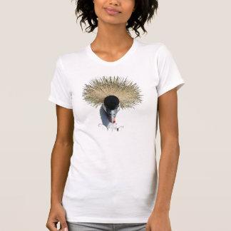 Ladies Destroyed T-Shirt - Crowned Crane