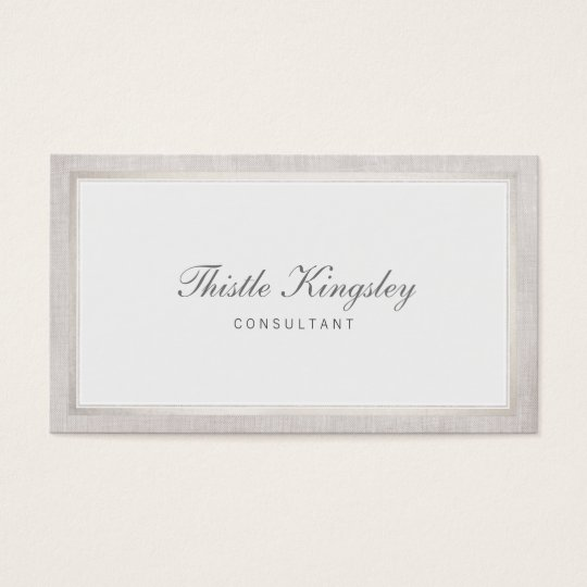Ladies Elegant Traditional Light Grey Business Card