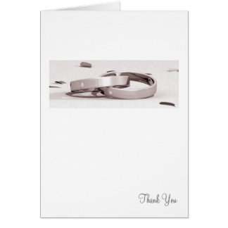 Ladies Entwined Rings BLK - Thank You Card