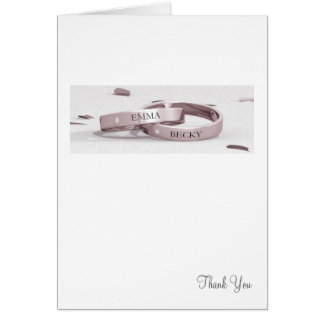 Ladies Entwined Rings - Thank You Card