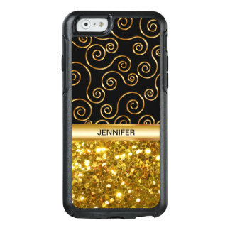 Ladies Faux Gold Glitter OtterBox iPhone 6/6s Case