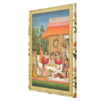 Ladies feasting from the Small Clive Album Gallery Wrapped Canvas