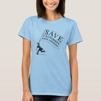 Ladies' Fitted T-Shirt Save CA School LIbraries