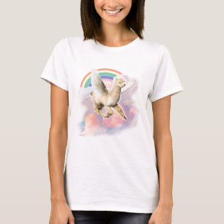 Ladies Fitted Tee: Flyin Paca T-Shirt