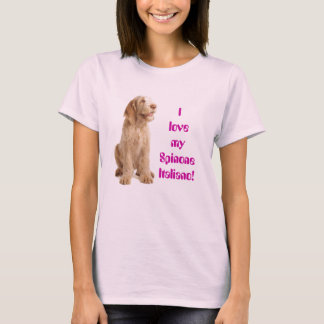 ladies fitted tee - I love my Italian Spinone...