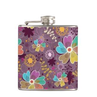 Ladies Floral Hip Flask
