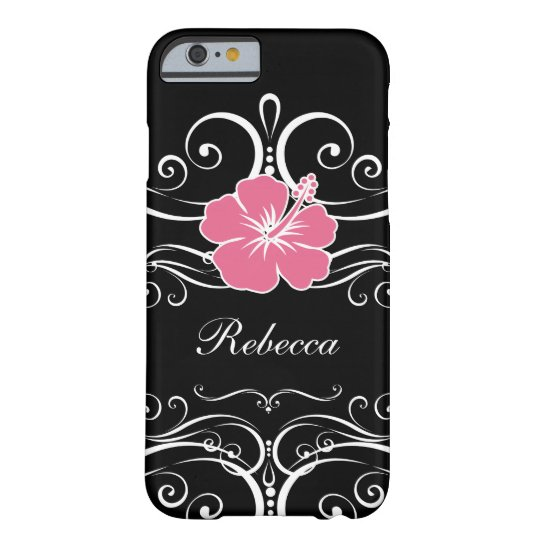 Ladies Floral Monogram Style Barely There iPhone 6