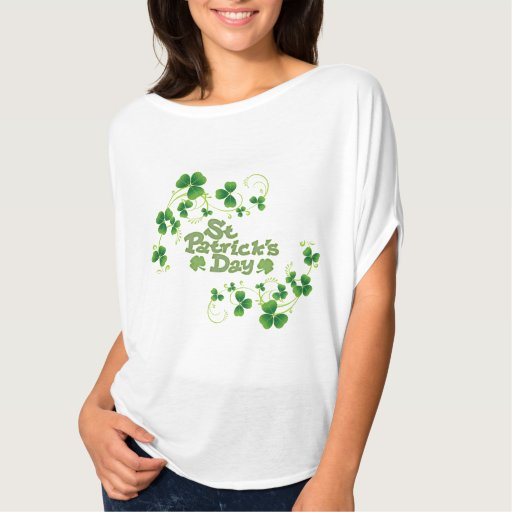 Ladies Flowy St Patrick's Day Top