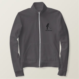 Ladies Golf AA Fleece Track Jacket Embroidered