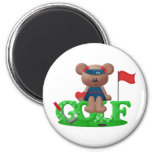 Ladies Golf Gift Refrigerator Magnet