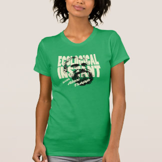 Ladies Green Ecological Instant Shirt