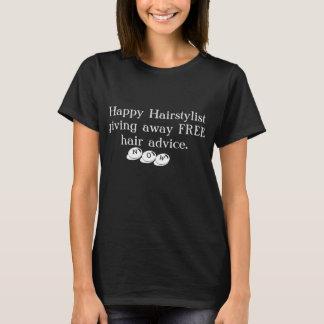 Ladies Happy Hairstylist Marketing T-Shirt