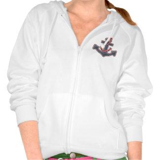 """Ladies Hoodie Sweatshirt """"Sea Breeze"""" Anchor"""
