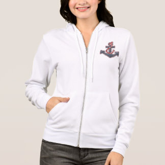 "Ladies Hoodie Sweatshirt ""Sea Breeze"" Anchor"