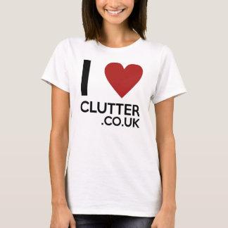 Ladies 'I Love Clutter.co.uk' Tee