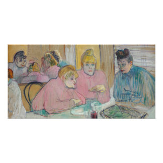 Ladies in the Dining Room by Toulouse-Lautrec Photo Cards
