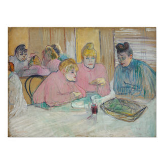 Ladies in the Dining Room by Toulouse-Lautrec Photograph
