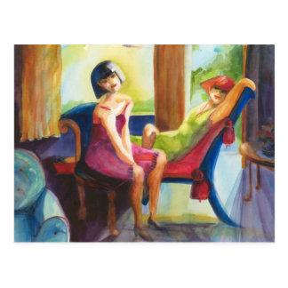 Ladies in Waiting Postcard