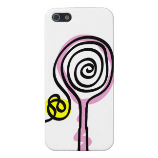 Ladies iPhone case with pink tennis racket design iPhone 5/5S Case