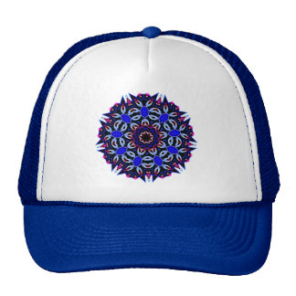 Ladies Jeweled Print Cap Trucker Hat