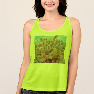 Ladies Jumping Cactus Work Out Racerback Tank