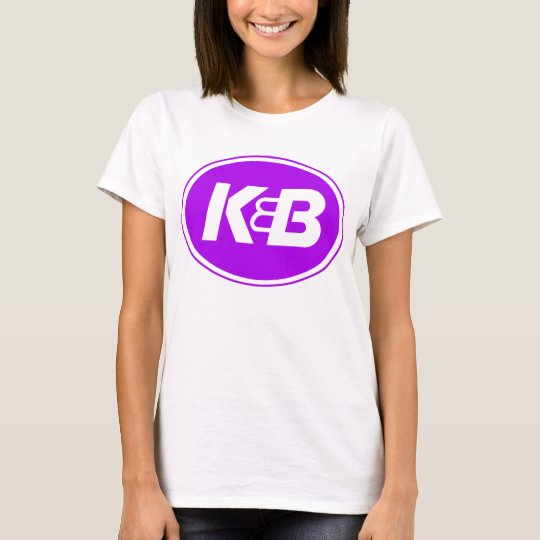 Ladies K&B Purple on Gold T-Shirt
