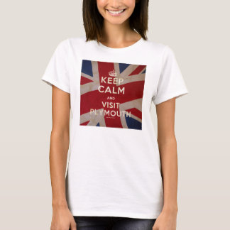 Ladies 'Keep Calm and Visit Plymouth' Tee