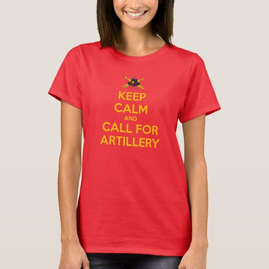 Ladies Keep Calm Tee with Yellow Letters Classic