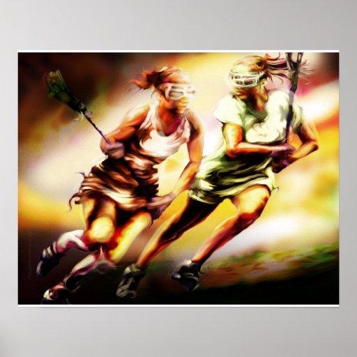 Ladies Lacrosse Poster
