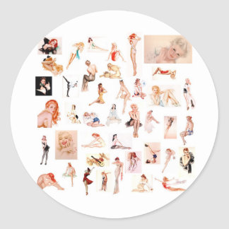 Ladies Ladies Ladies! Round Sticker