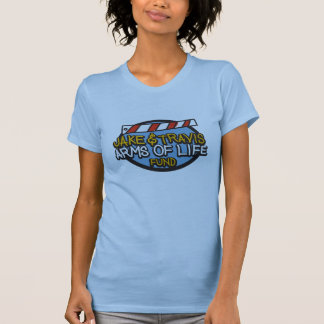 Ladies Large Pale Blue Arms of Life Shirt