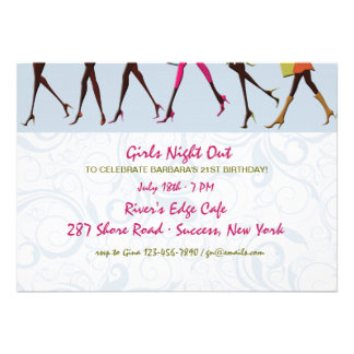 Ladies Legs Girl s Night Out Invitation