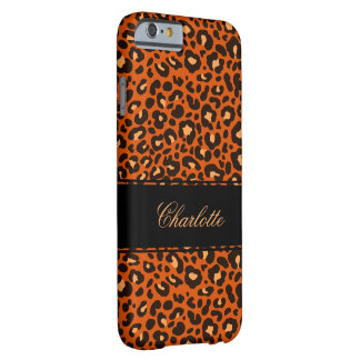 Ladies Leopard Skin Monogram Barely There iPhone 6 Case