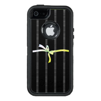 Ladies-LIME-Ribbon-mOD-Pinstripes_APPLE-SAMSUNG OtterBox Defender iPhone Case