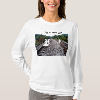 Ladies Long Sleeve T-Shirt - Ghosts on railroad