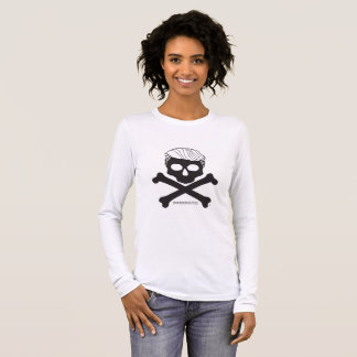 Ladies Long-sleeved T - white with black logo Long Sleeve T-Shirt