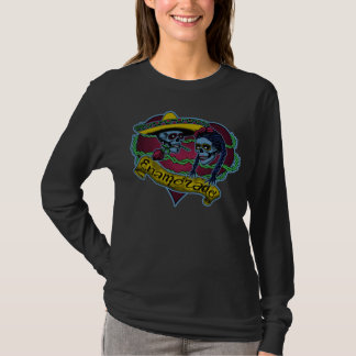 Ladies long-sleeved Tee w/sugar skulls
