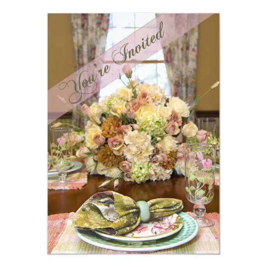 Ladies Luncheon Invitation (Floral Table Setting)