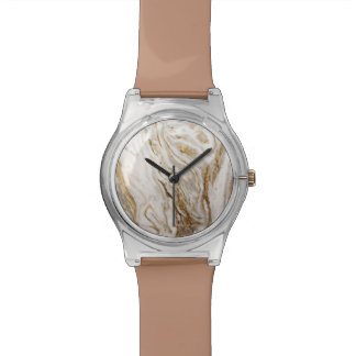 Ladies Marble Look Abstract Earth Tones Watches