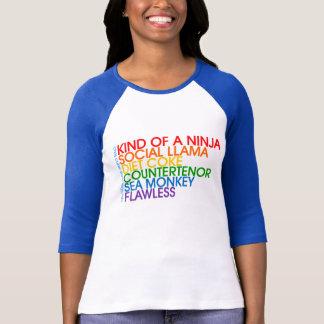 Ladies Navy Baseball Rainbow Shirt
