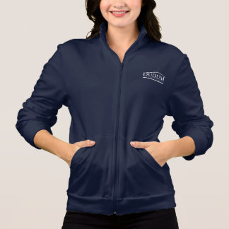 Ladies Navy Track Jacket