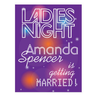 Ladies Night invitation design Postcard