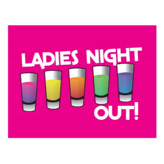 LADIES night out cards Postcard
