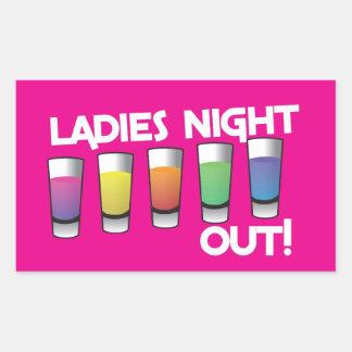 LADIES night out cards Rectangular Sticker