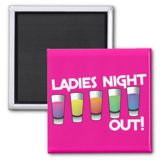 LADIES night out cards Square Magnet