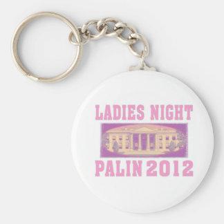 Ladies Night Palin 2012 Basic Round Button Key Ring