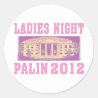 Ladies Night Palin 2012 Round Sticker
