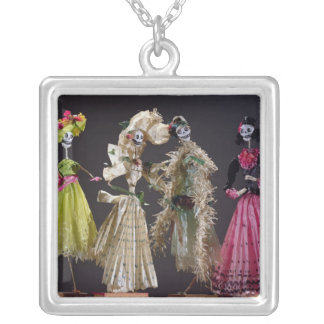 Ladies of the Day of the Dead, from Oaxaca Silver Plated Necklace