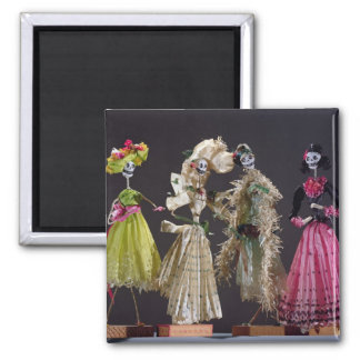 Ladies of the Day of the Dead, from Oaxaca Square Magnet