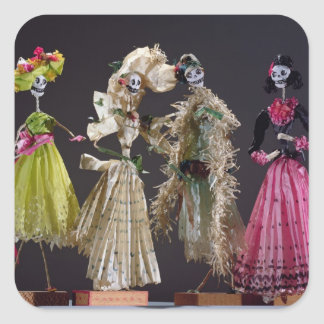 Ladies of the Day of the Dead, from Oaxaca Square Sticker